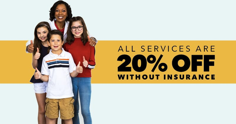 20% off all services without insurance